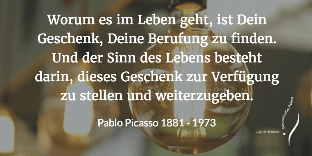 Zitat Pablo Picasso Hero Image