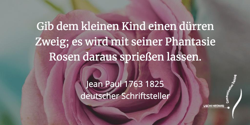 Zitat Jean Paul - Fantasie